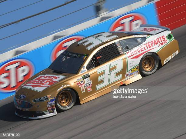 Matt DiBenedetto GO FAS Racing Corvettepartsnet/Keen Parts Ford Fusion races through the turns during the NASCAR Monster Energy Cup Series Bojangles...