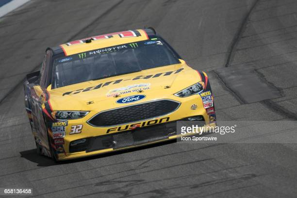 Matt DiBenedetto goes around turn 3 during the Monster Energy Cup Series 20th Anniversary Auto Club 400 at Auto Club Speedway in Fontana California...
