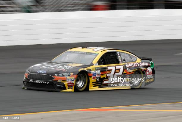 Matt DiBenedetto Monster Energy NASCAR Cup Series driver of the Weirs Motor Sales Inc Ford during qualifying for the Overton's 301 on July 14 at New...