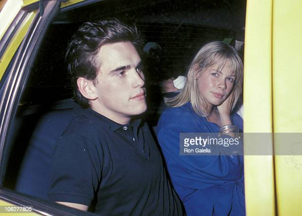 Matt Dillon and date during Party for Phil Collins June 2 1985 at Dish of Salt Restaurant in New York City New York United States