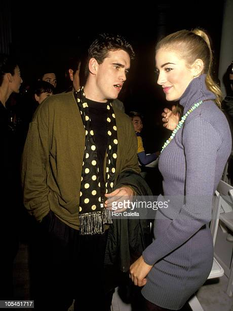Matt Dillon and Elaine Irwin during Isaac Mizrahi's Spring Collection Fashion Show 1991 at Isaac Mizrahi's Studio in New York New York United States
