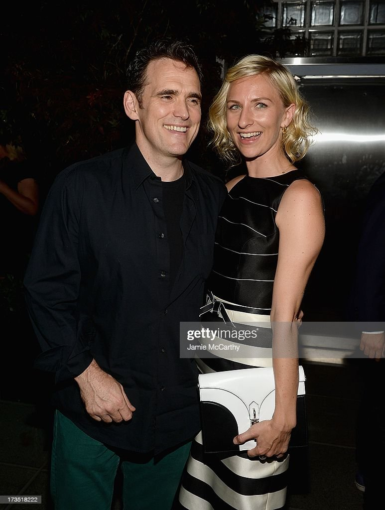 Matt Dillon and Mickey Sumner attend The Cinema Society & Brooks Brothers Host A Screening Of Lionsgate And Roadside Attractions' 'Girl Most Likely' After Party at Hotel Americano on July 15, 2013 in New York City.