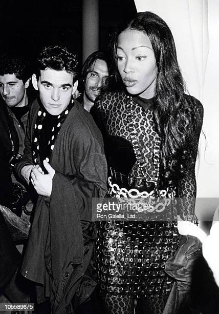 Matt Dillon and Naomi Campbell during Isaac Mizrahi's Spring Collection Fashion Show 1991 at Isaac Mizrahi's Studio in New York New York United States