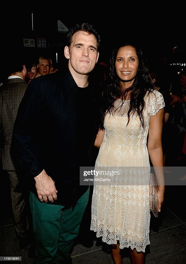 Matt Dillon and Padma Lakshmi attend The Cinema Society & Brooks Brothers Host A Screening Of Lionsgate And Roadside Attractions' 'Girl Most Likely' After Party at Hotel Americano on July 15, 2013 in New York City.
