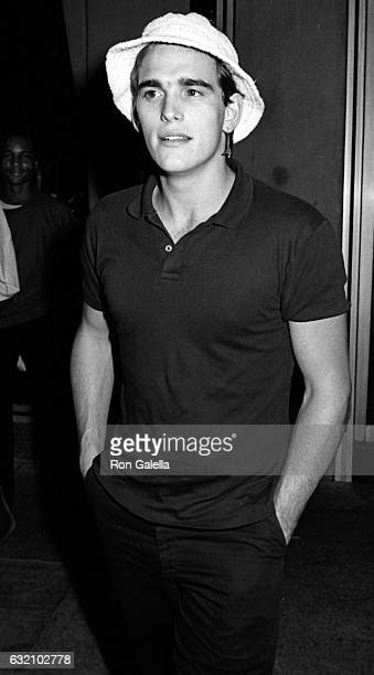 Matt Dillon attends Phil Collins Concert Party on July 2 1985 at the Dish of Salt Restaurant in New York City