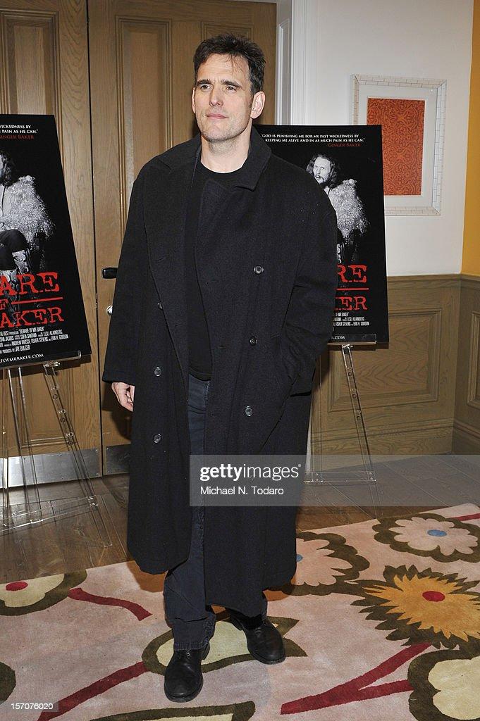 Matt Dillon attends the 'Beware of Mr. Baker' screening at the Crosby Street Hotel on November 27, 2012 in New York City.