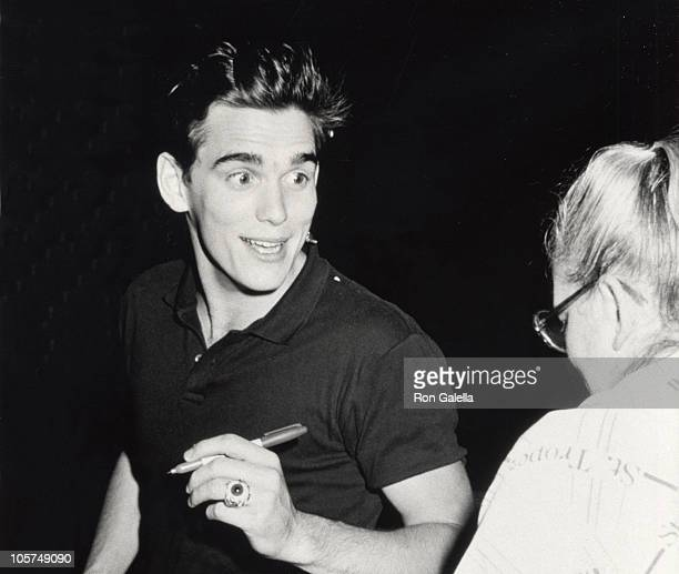 Matt Dillon during Party for Phil Collins June 2 1985 at Dish of Salt Restaurant in New York City New York United States