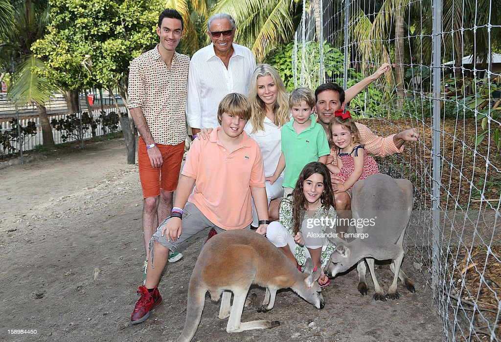 Matt Dillon, George Teichner, Harrison Drescher, Aviva Drescher, Hudson Drescher, Veronica Drescher, Reid Drescher and Sienna Drescher are seen during the Jungle Island VIP Safari Tour at Jungle Island on January 4, 2013 in Miami, Florida.