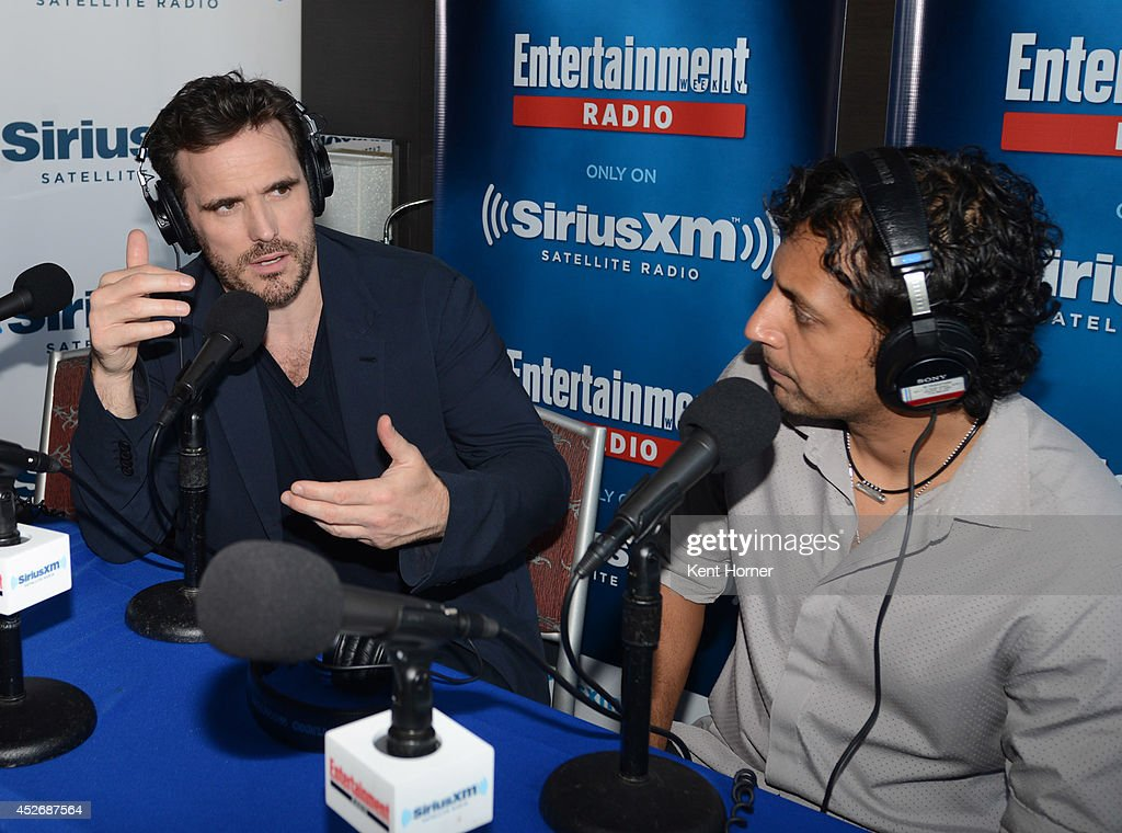 <a gi-track='captionPersonalityLinkClicked' href=/galleries/search?phrase=Matt+Dillon+-+Actor&family=editorial&specificpeople=202099 ng-click='$event.stopPropagation()'>Matt Dillon</a> is interviewed on SiriusXM's Entertainment Weekly Radio channel from Comic-Con 2014 at The Hard Rock Hotel on July 25, 2014 in San Diego, California.