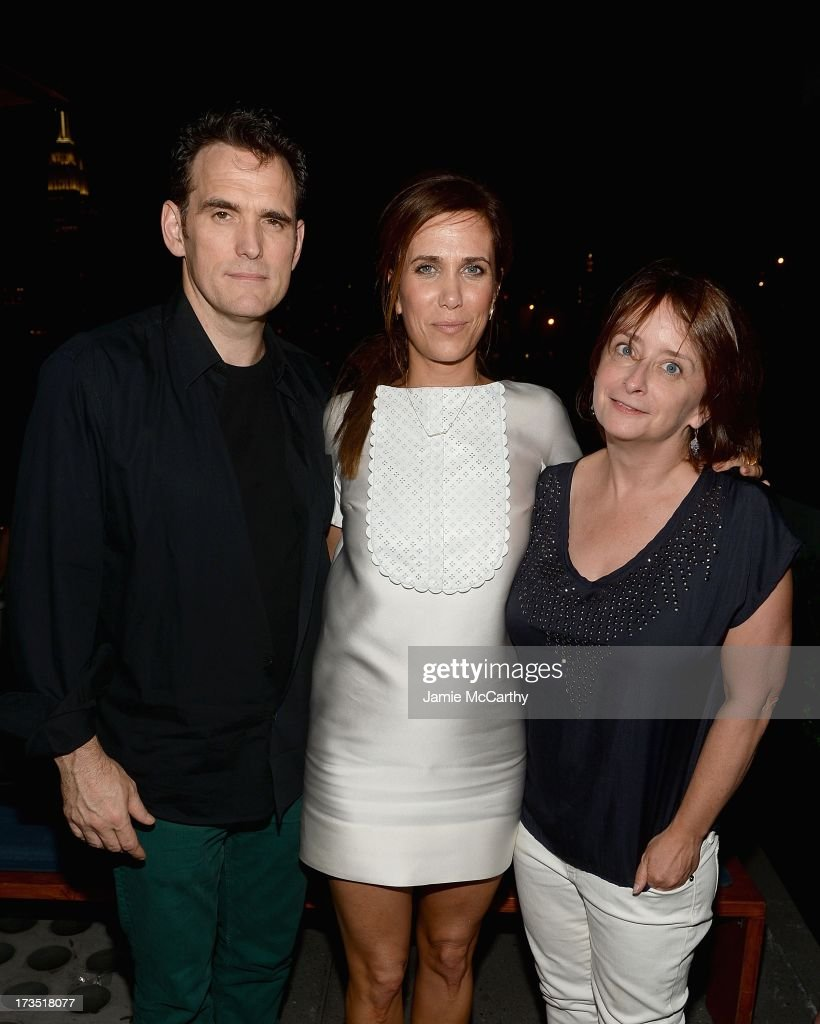 Matt Dillon, Kristen Wiig, and Rachel Dratch attend The Cinema Society & Brooks Brothers Host A Screening Of Lionsgate And Roadside Attractions' 'Girl Most Likely' After Party at Hotel Americano on July 15, 2013 in New York City.