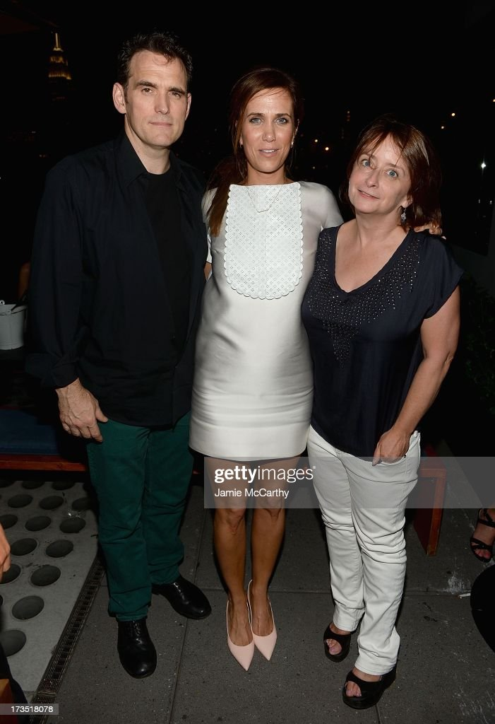 Matt Dillon, Kristen Wiig, and <a gi-track='captionPersonalityLinkClicked' href=/galleries/search?phrase=Rachel+Dratch&family=editorial&specificpeople=209387 ng-click='$event.stopPropagation()'>Rachel Dratch</a> attend The Cinema Society & Brooks Brothers Host A Screening Of Lionsgate And Roadside Attractions' 'Girl Most Likely' After Party at Hotel Americano on July 15, 2013 in New York City.