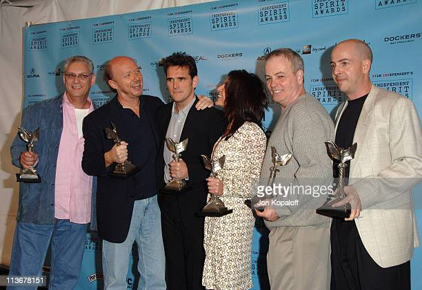 "Matt Dillon winner Best Supporting Male for ""Crash"" with Mark R Harris Paul Haggis Cathy Schulman Bobby Moresco and Bob Yari producers and winners..."