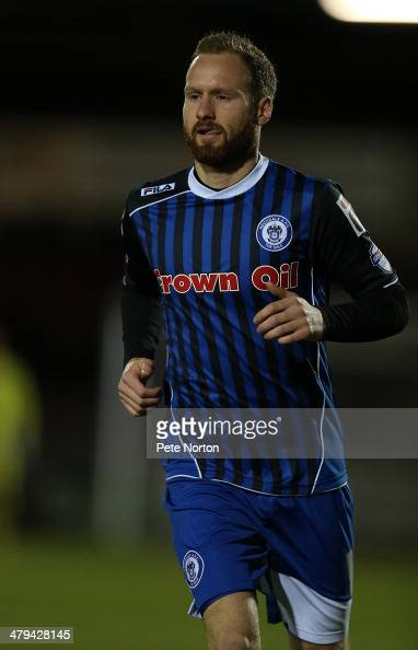 Matt Done of Rochdale in action during the Sky Bet league Two match between Northampton Town and Rochdale at Sixfields Stadium on March 18 2014 in...