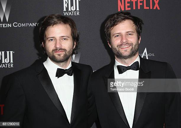 Matt Duffer and Ross Duffer attend The Weinstein Company and Netflix Golden Globe Party presented with FIJI Water Grey Goose Vodka Lindt Chocolate...