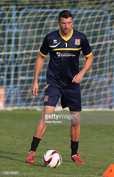 Matt Duke of Northampton Town in action during a training session during PreSeason Training on July 3 2013 in Novigrad Croatia