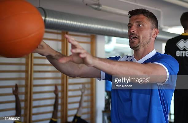 Matt Duke of Northampton Town takes part in a gym session during PreSeason Training on July 2 2013 in Novigrad Croatia