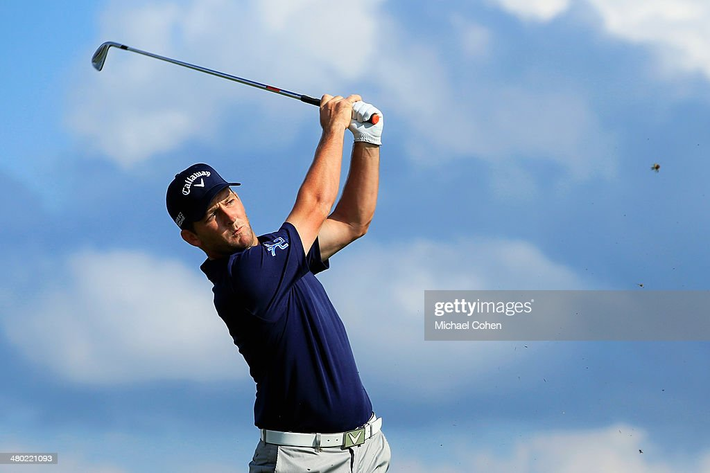 <a gi-track='captionPersonalityLinkClicked' href=/galleries/search?phrase=Matt+Every&family=editorial&specificpeople=2344163 ng-click='$event.stopPropagation()'>Matt Every</a> of the United States hits his tee shot on the 14th hole during the final round of the Arnold Palmer Invitational presented by MasterCard at the Bay Hill Club and Lodge on March 23, 2014 in Orlando, Florida.