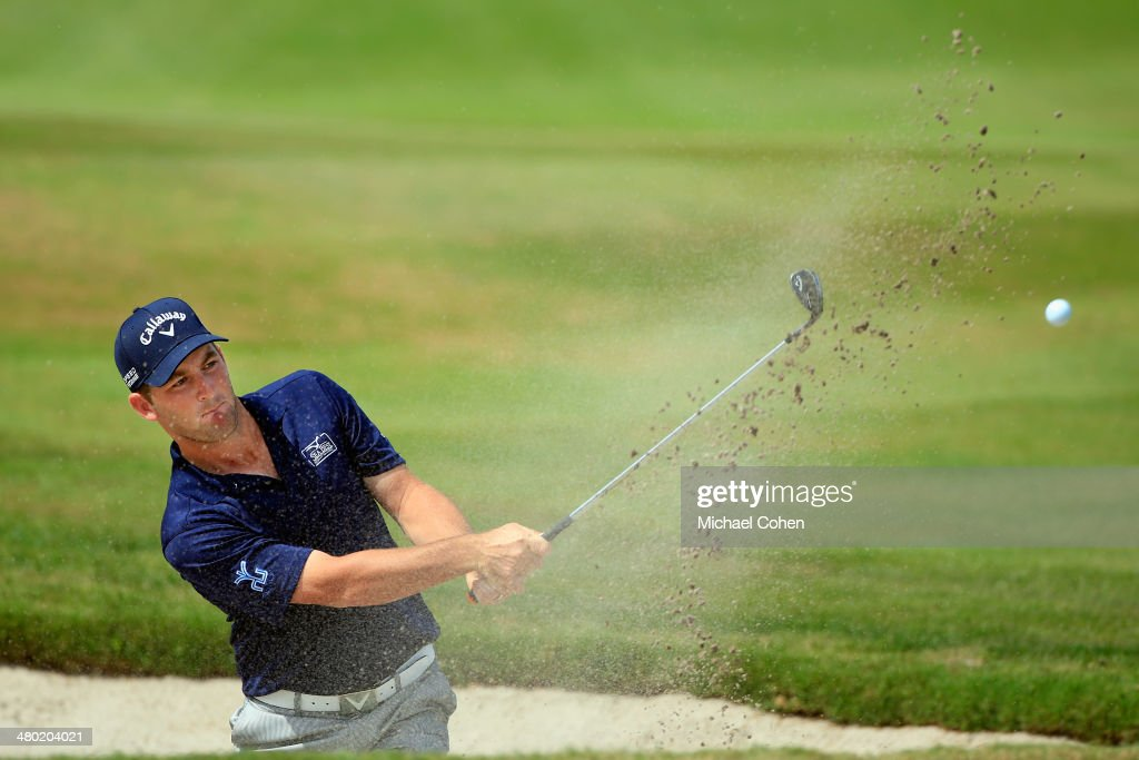 <a gi-track='captionPersonalityLinkClicked' href=/galleries/search?phrase=Matt+Every&family=editorial&specificpeople=2344163 ng-click='$event.stopPropagation()'>Matt Every</a> of the United States hits his third shot from a bunker on the eighth hole during the final round of the Arnold Palmer Invitational presented by MasterCard at the Bay Hill Club and Lodge on March 23, 2014 in Orlando, Florida.