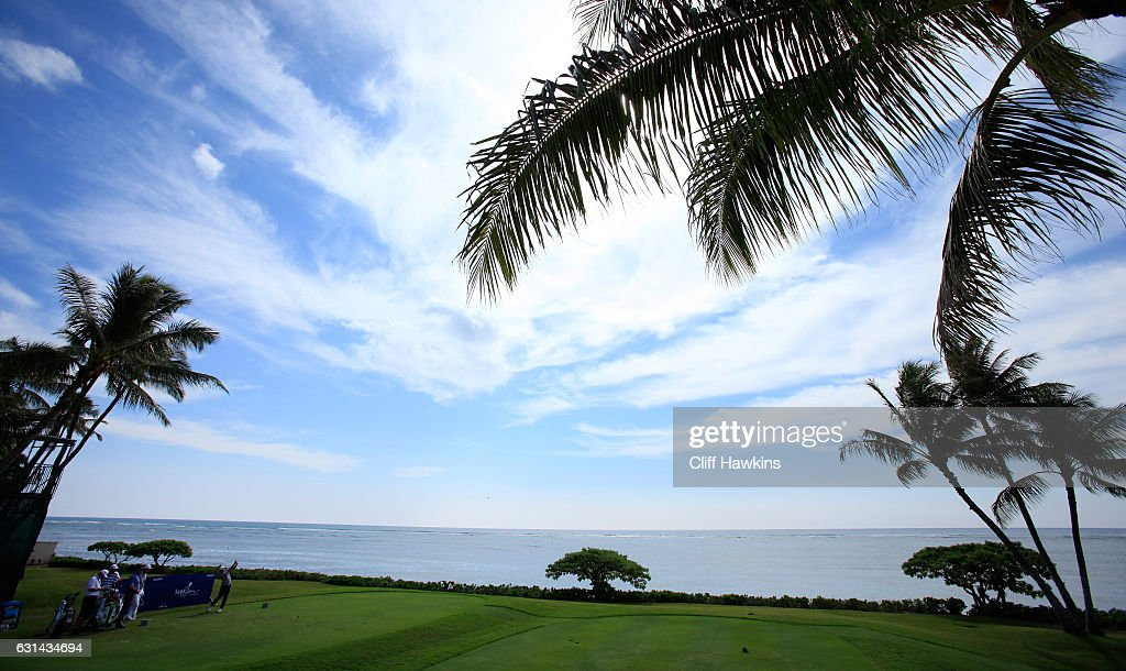 Matt Every of the United States plays a shot during practice rounds prior to the Sony Open In Hawaii at Waialae Country Club on January 10, 2017 in Honolulu, Hawaii.