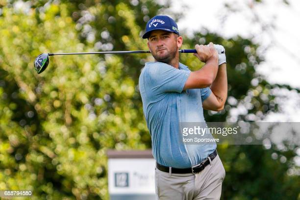 Matt Every plays his shot from the ninth tee during the second round of the Dean Deluca Invitational on May 26 2017 at Colonial Country Club in Fort...