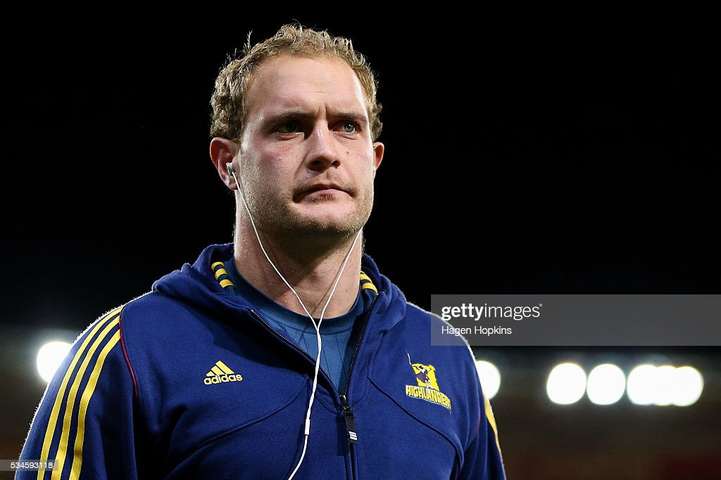 Matt Faddes of the Highlanders looks on during the round 14 Super Rugby match between the Hurricanes and the Highlanders at Westpac Stadium on May 27, 2016 in Wellington, New Zealand.
