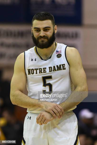 Matt Farrell of the Notre Dame Fighting Irish looks on during a the championship of the Maui Invitational college basketball game against the Wichita...