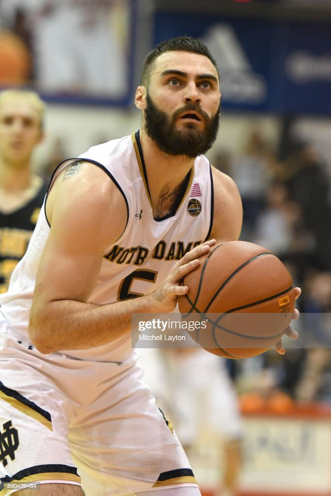 Matt Farrell #5 of the Notre Dame Fighting Irish takes a foul shot during a the championship of the Maui Invitational college basketball game against the Wichita State Shockers at the Lahaina Civic Center on November 22, 2017 in Lahaina, Hawaii. The Fighting Irish won 67-66.