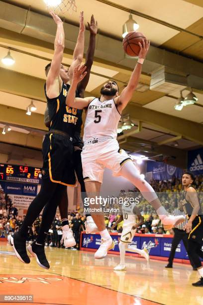 Matt Farrell of the Notre Dame Fighting Irish takes a shot during a the championship of the Maui Invitational college basketball game against the...