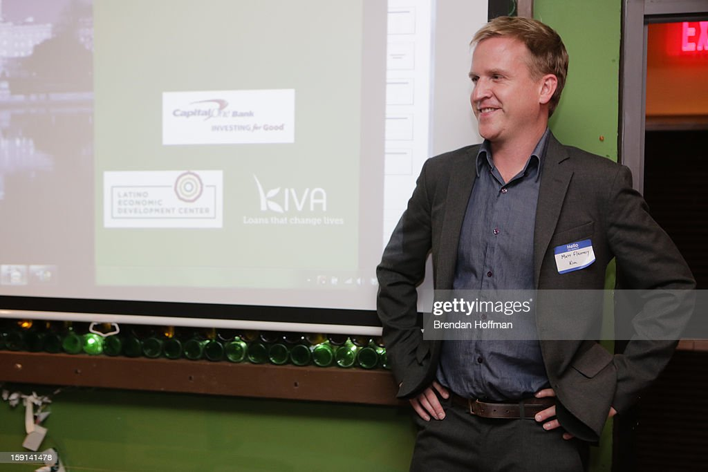 Matt Flannery, co-founder and CEO of Kiva.org, attends a launch event for Kiva City D.C. hosted by Capital One, Kiva, and the Latino Economic Development Center on January 8, 2013 in Washington, DC. Kiva City D.C. is a crowd-sourced micro-lending program for small businesses.