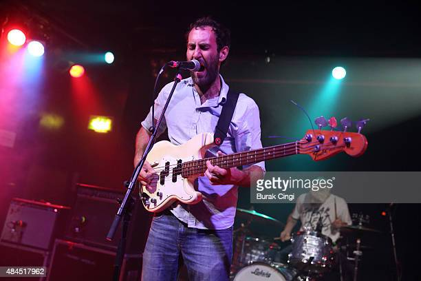 Matt Flegel of Viet Cong performs live on stage at Scala on August 19 2015 in London England