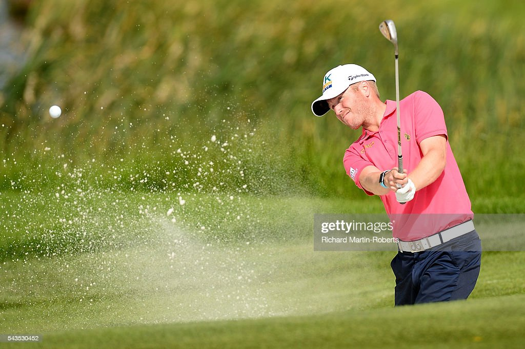 <a gi-track='captionPersonalityLinkClicked' href=/galleries/search?phrase=Matt+Ford+-+Golfer&family=editorial&specificpeople=13743501 ng-click='$event.stopPropagation()'>Matt Ford</a> of England hits from a bunker during a pro-am round ahead of the 100th Open de France at Le Golf National on June 29, 2016 in Paris, France.