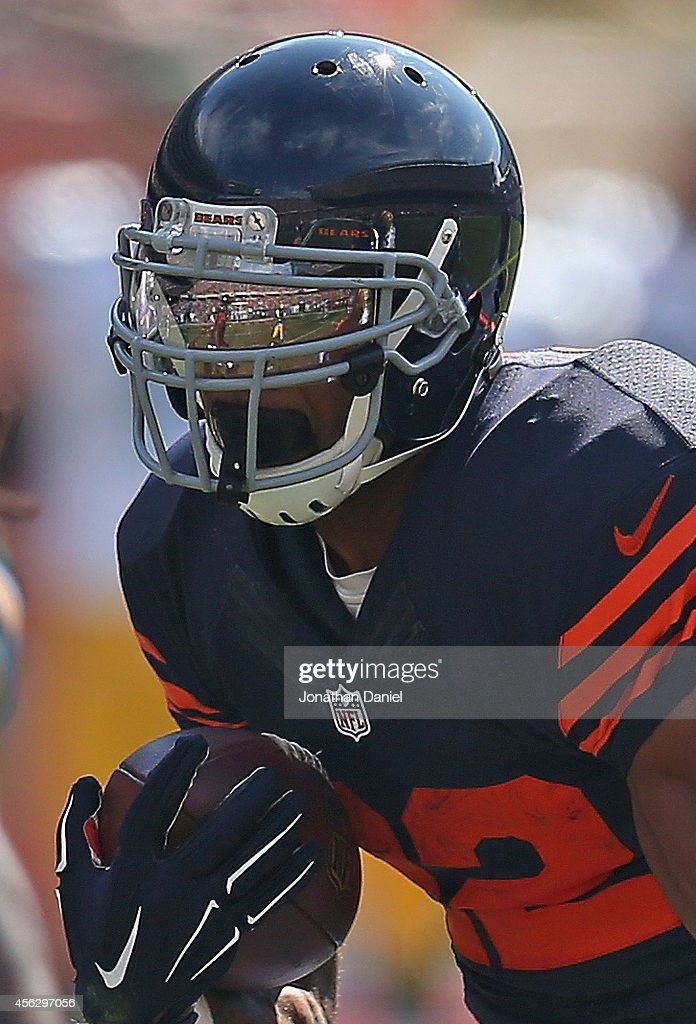 <a gi-track='captionPersonalityLinkClicked' href=/galleries/search?phrase=Matt+Forte&family=editorial&specificpeople=2246847 ng-click='$event.stopPropagation()'>Matt Forte</a> #22 of the Chicago Bears runs the ball against the Green Bay Packers during the second half at Soldier Field on September 28, 2014 in Chicago, Illinois. The Packers defeated the Bears 38-17.