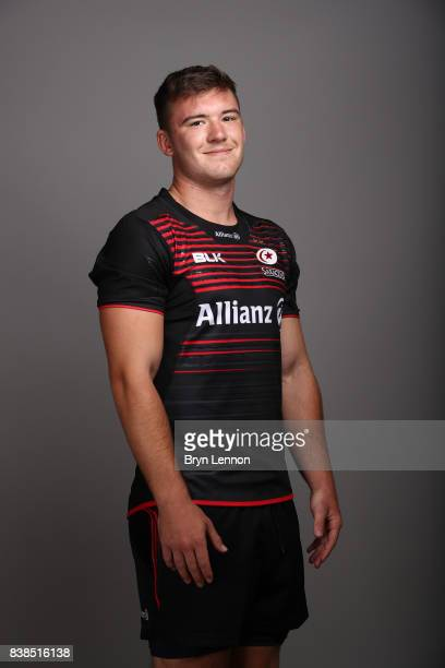 Matt Gallagher of Saracens poses during a photocall at Allianz Park on August 21 2017 in Barnet England