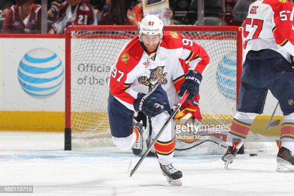 Matt Gilroy of the Florida Panthers skates prior to the game against the Colorado Avalanche at the Pepsi Center on November 16 2013 in Denver Colorado