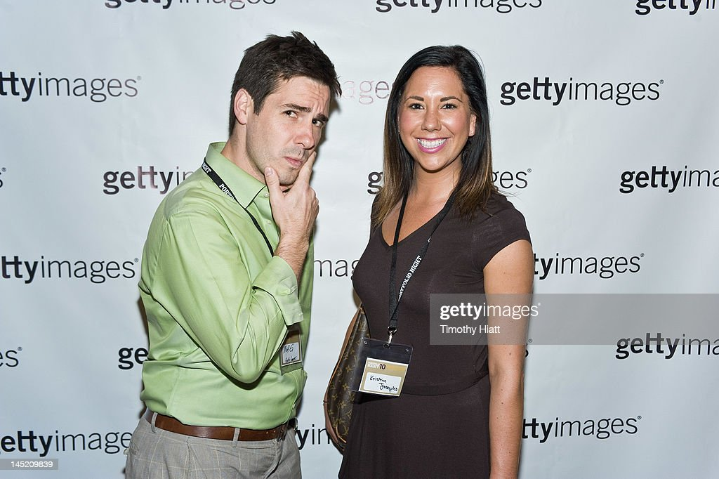 Matt Gingrich and Kristin Josepho of Getty Images attend Portfolio Night 10 at 410 Club on May 23, 2012 in Chicago, Illinois.