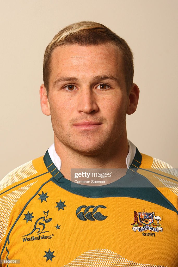 <a gi-track='captionPersonalityLinkClicked' href=/galleries/search?phrase=Matt+Giteau&family=editorial&specificpeople=206460 ng-click='$event.stopPropagation()'>Matt Giteau</a> of the Wallabies poses during the Australian Wallabies squad headshots session at Crown Plaza, Coogee on May 31, 2009 in Sydney, Australia.