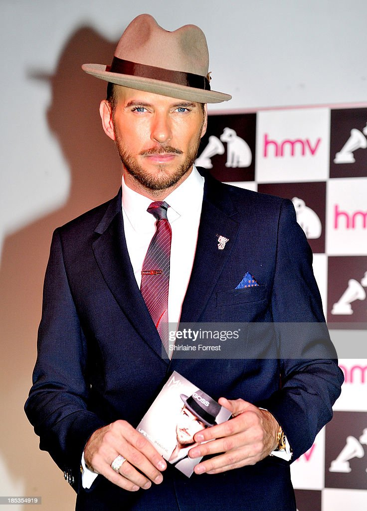 Matt Goss meets fans and signs copies of his new album 'Life You Imagine' at HMV Manchester on October 19, 2013 in Manchester, England.