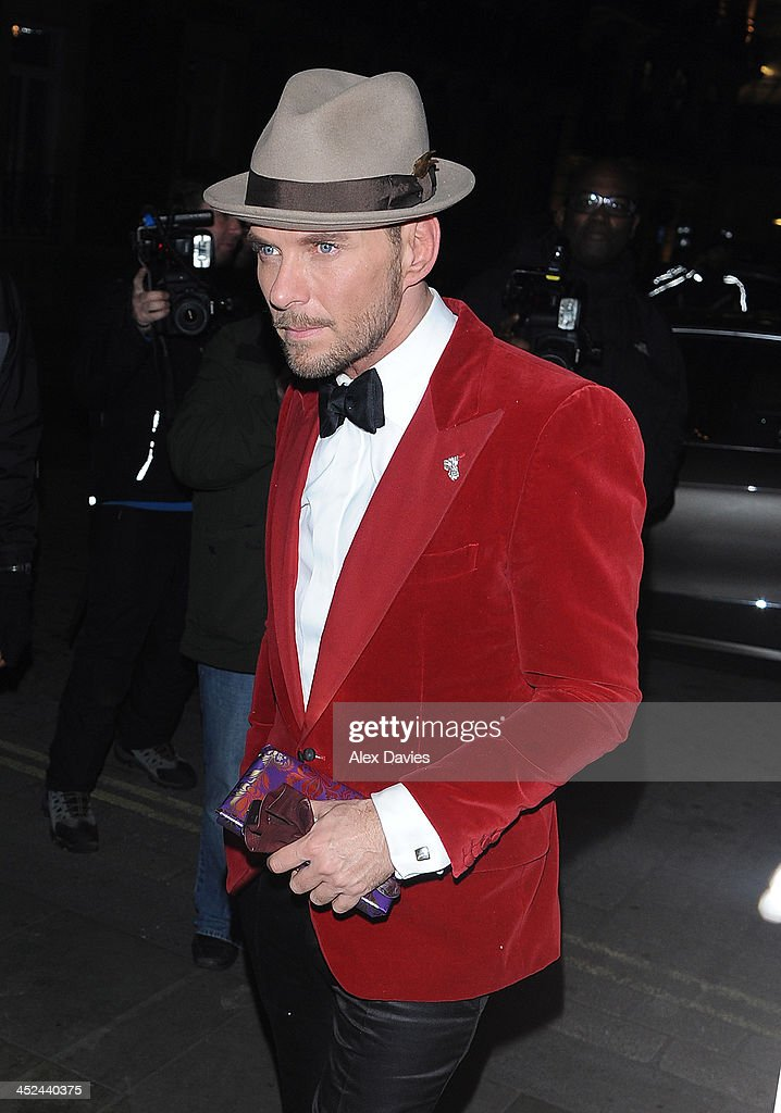 Matt Goss sighting on November 28, 2013 in London, England.