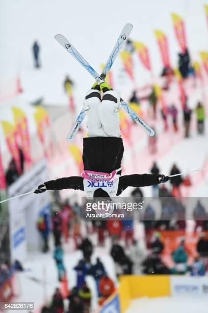 Matt Graham of Austalia competes in the men's dual moguls during 2017 FIS Freestyle Ski World Cup Tazawako In Akita supported by TDK at Tazawako Ski...