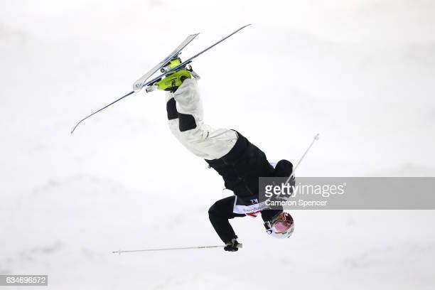 Matt Graham of Australia competes in the FIS Freestyle Ski World Cup 2016/17 Mens Moguls Final at Bokwang Snow Park on February 11 2017 in...