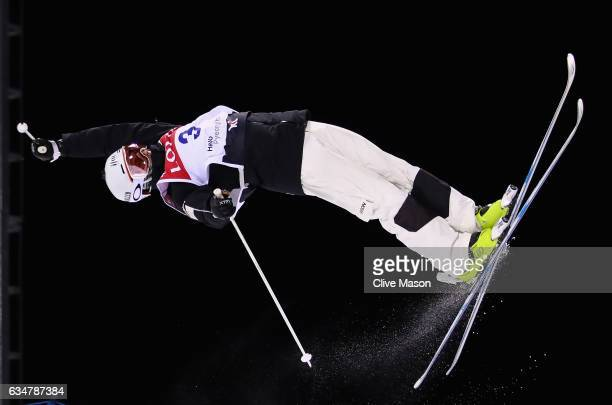 Matt Graham of Australia in action during the Mens Moguls final at the FIS Freestyle Ski World Cup 2016/17 Moguls at Bokwang Snow Park on February 11...