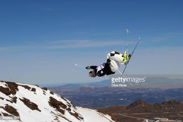 Matt Graham of Australia makes a training jump prior to the Men's Moguls qualification on day one of the FIS Freestyle Ski Snowboard World...