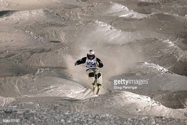 Matt Graham of Australia skis to first place in the FIS Freestyle Skiing Moguls World Cup at the Visa Freestyle International at Deer Valley on...