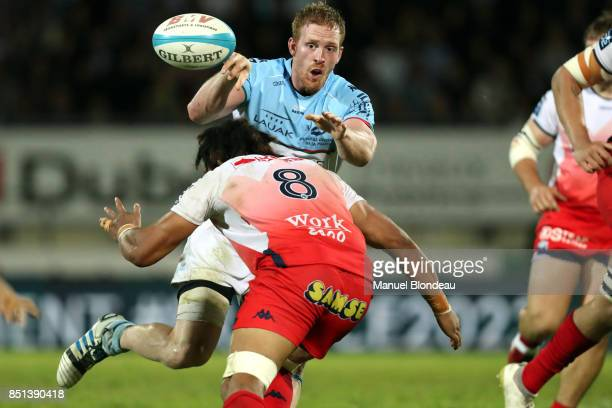 Matt Graham of Bayonne during the French Pro D2 match between Aviron Bayonnais and Grenoble on September 21 2017 in Bayonne France