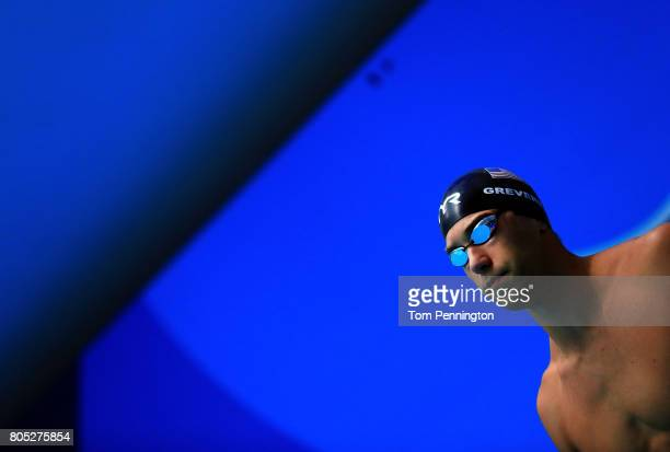 Matt Grevers prepares to compete in a Men's 50 LC Meter Freestyle heat race during the 2017 Phillips 66 National Championships World Championship...
