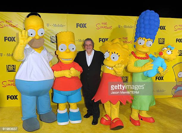 Matt Groening arrives to 'The Simpsons Treehouse of Horror' 20th Anniversary party held at the Barker Hangar on October 18 2009 in Santa Monica...