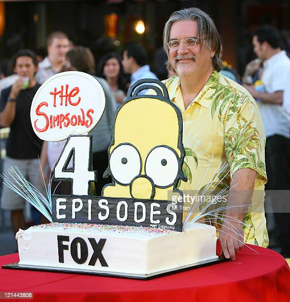 Matt Groening creator during The Simpsons 400th Episode Block Party at The FOX Lot New York Street in Los Angeles California United States