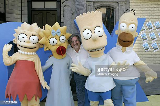 Matt Groening creator/executive producer with The Simpsons