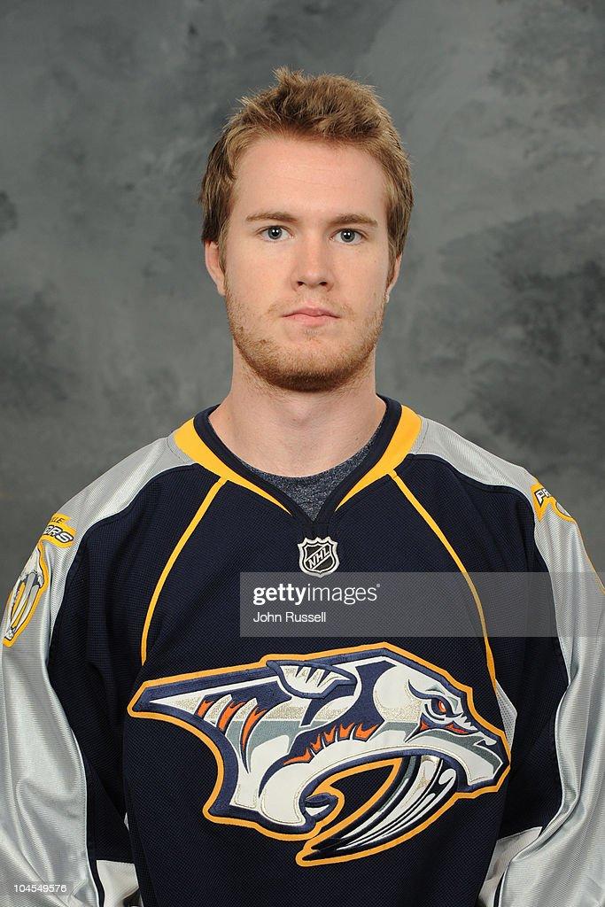 Matt Halischuk of the Nashville Predators poses for his official headshot for the 20102011 NHL season September 17 2010 in Nashville Tennessee