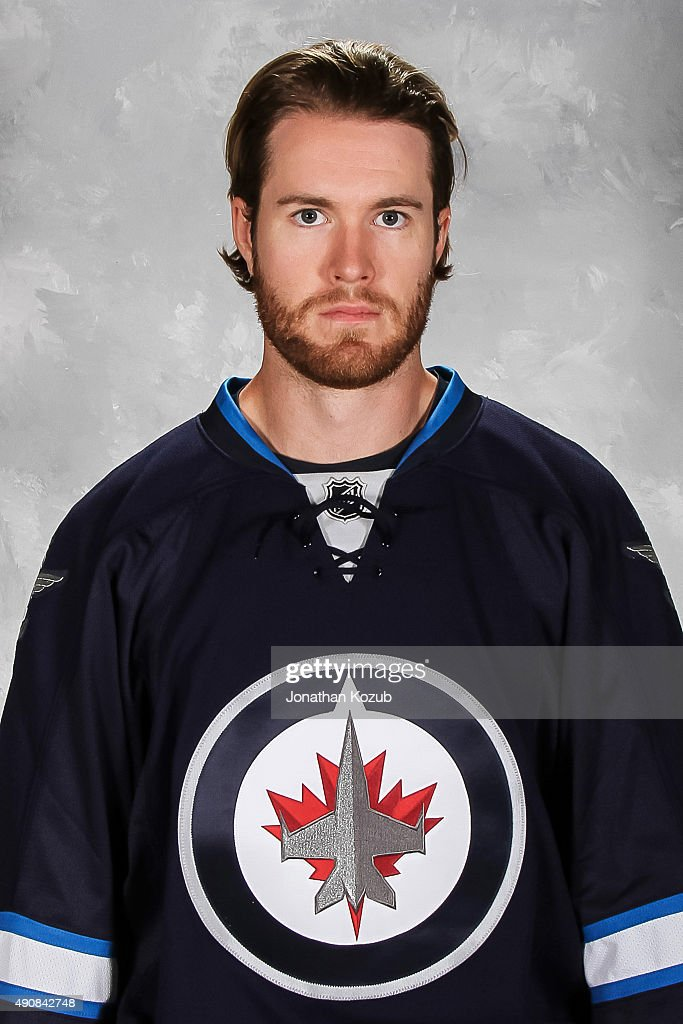 Matt Halischuk of the Winnipeg Jets poses for his official headshot for the 20152016 season on September 17 2015 at the MTS Centre in Winnipeg...